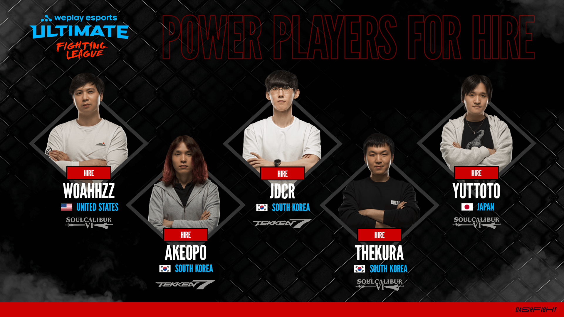 Fighting games esports - pro players free agents