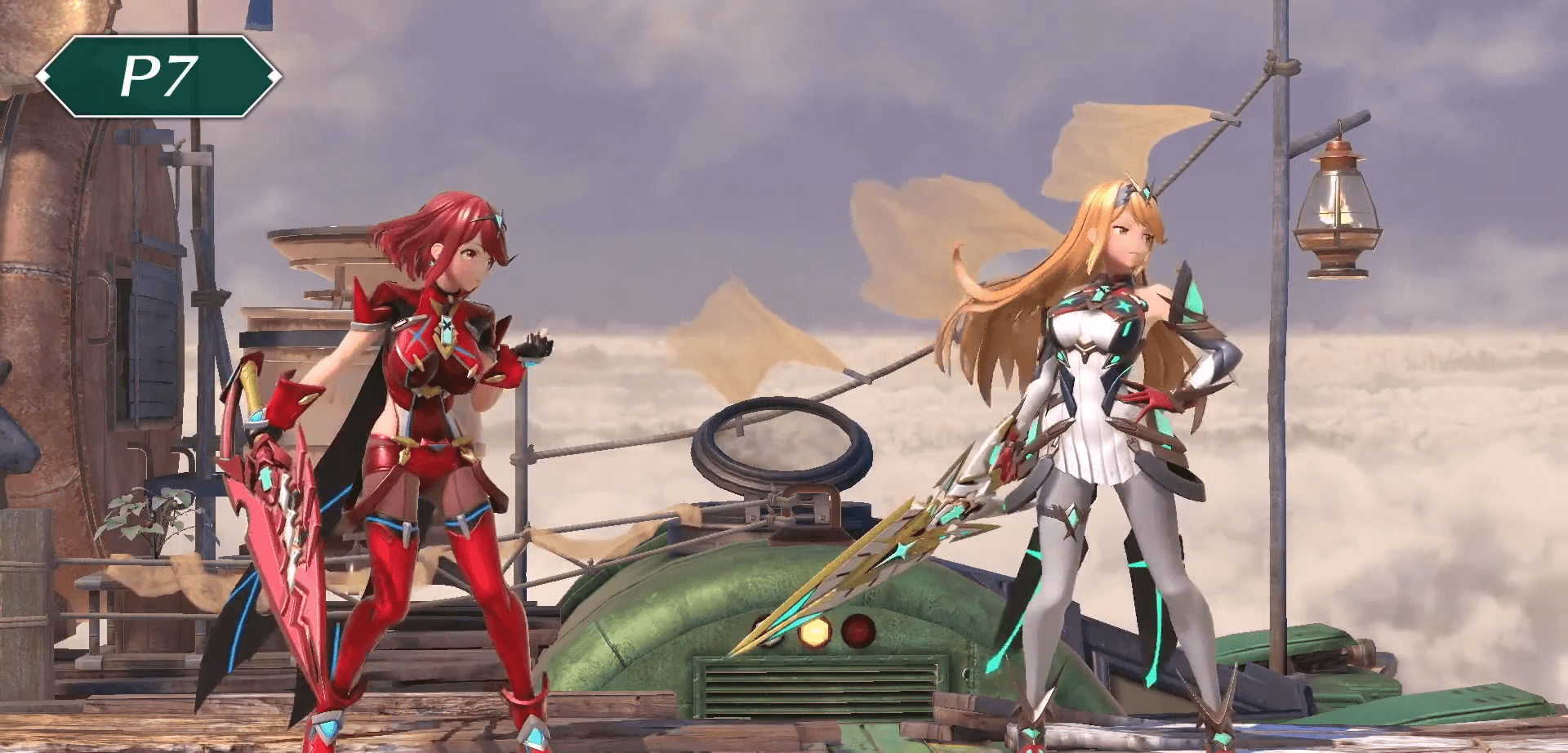 Smash Ultimate - colors of Pyra an Mythra costumes