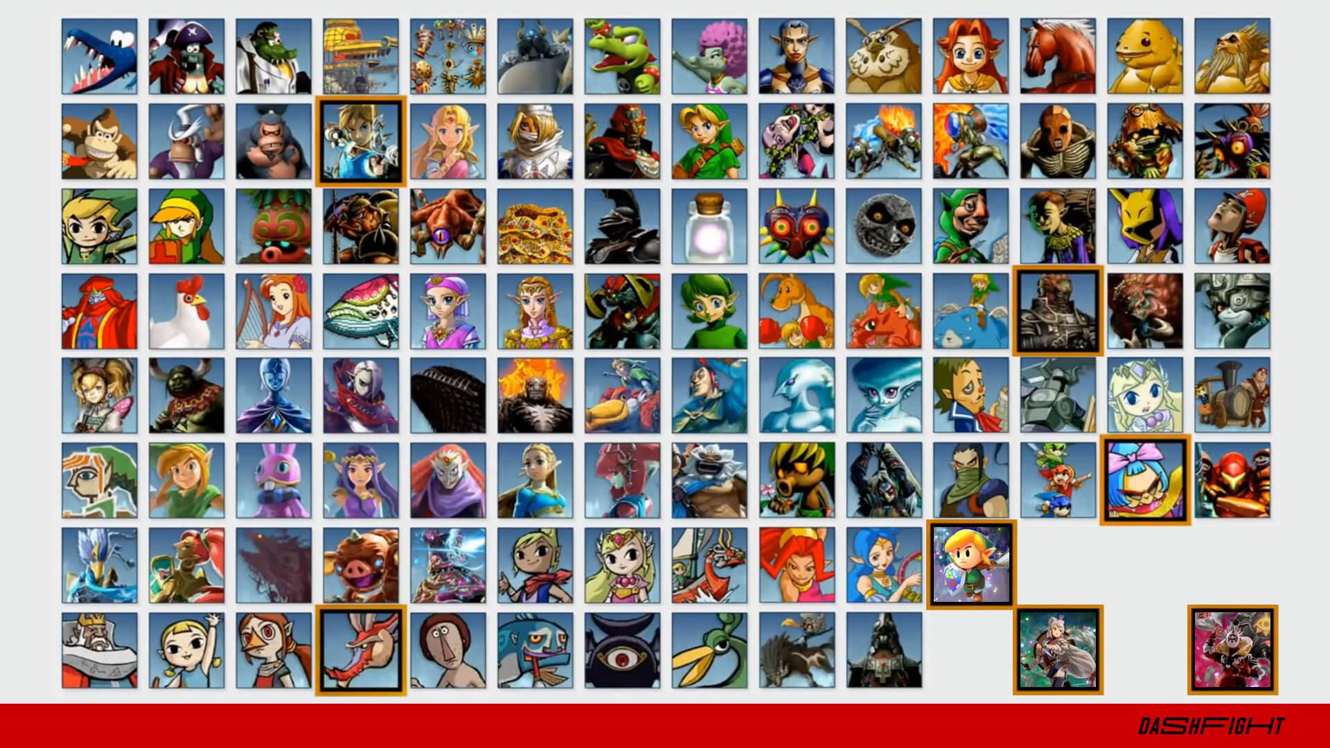 Smash Ultimate spirits from Zelda games