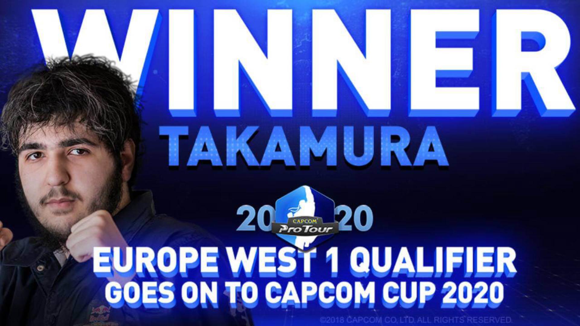 Takamura_B Wins Europe West 1 Capcom Pro Tour 2020