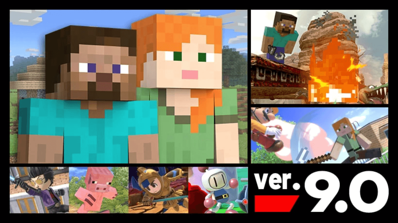 Minecraft Steve and Alex are Available in SSBU Now