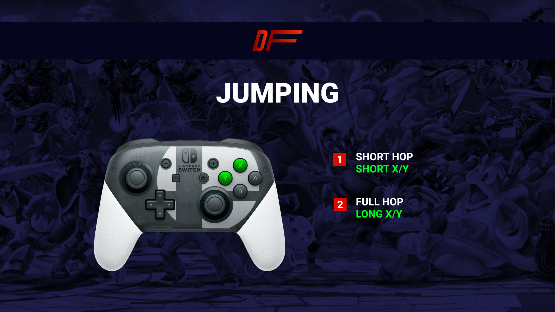Controls in Smash Ultimate: Jumping