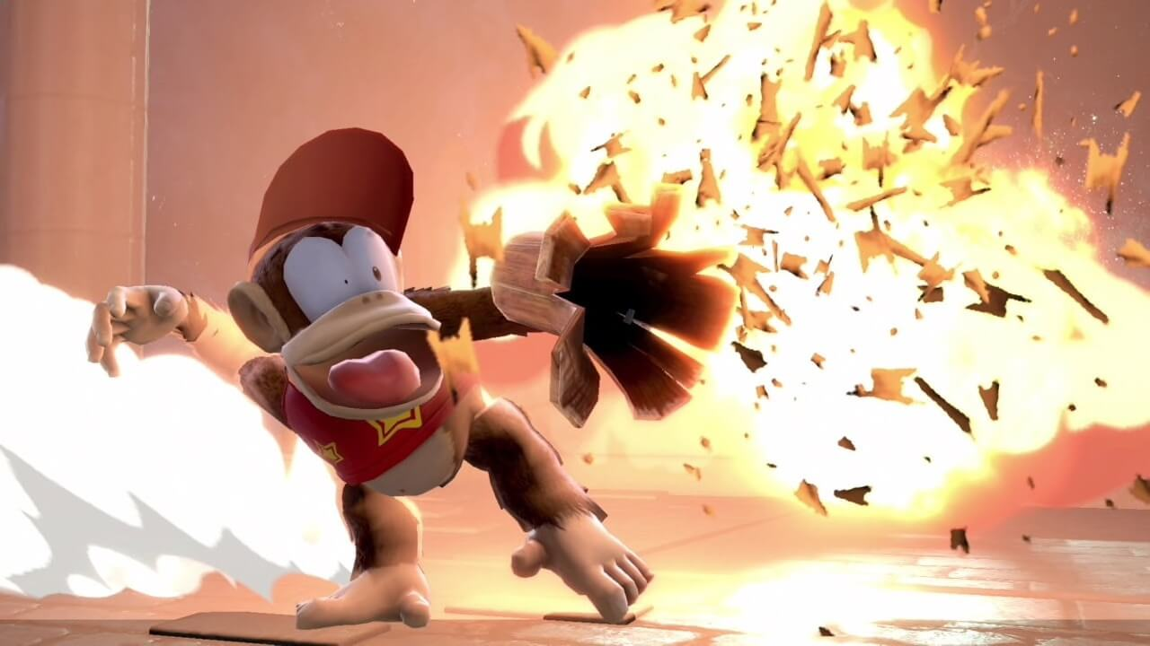 Diddy Kong explosion