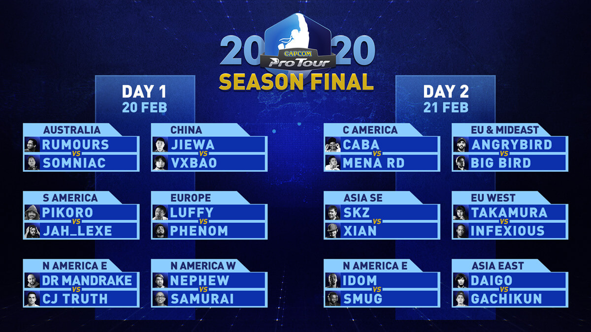 Street Fighter Capcom Pro Tour 2020 Season Final - all the matches