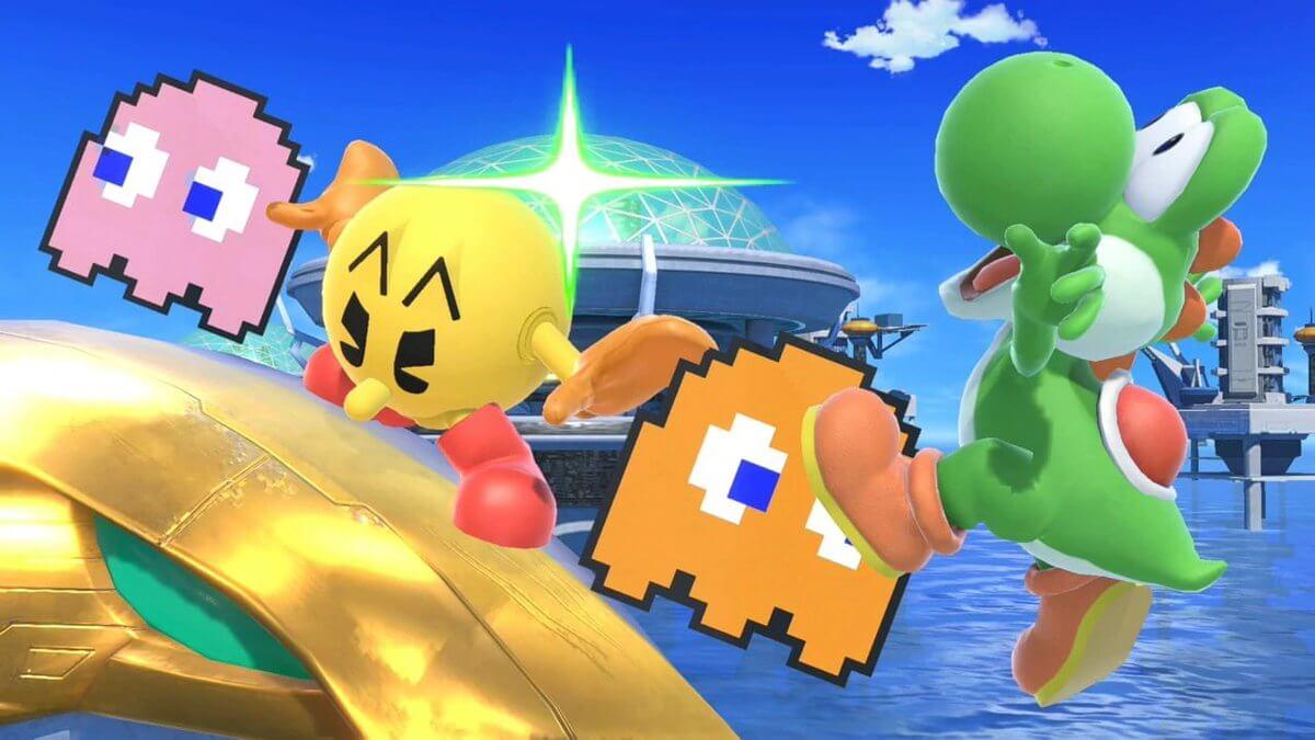 Pac-Man, ghosts, Yoshi