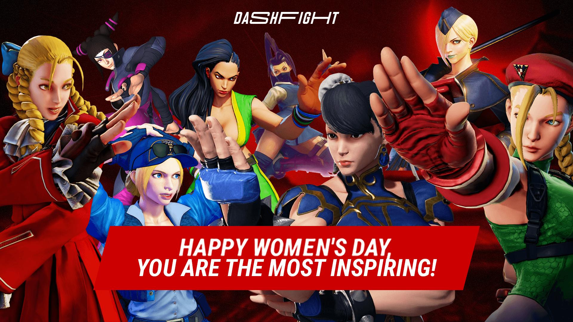Happy Women's Day, beauties of Street Fighter
