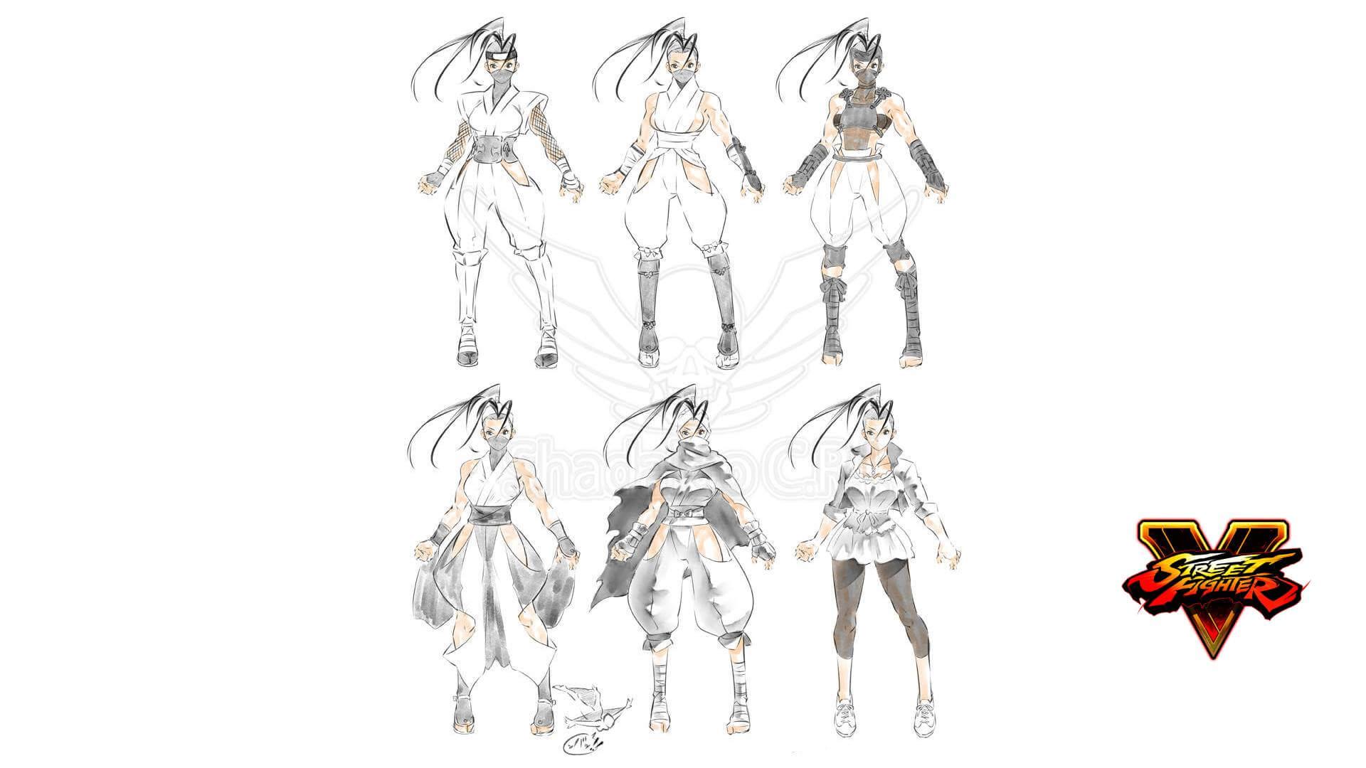 Capcom Inspires - Concept Arts of Ibuki's Costume