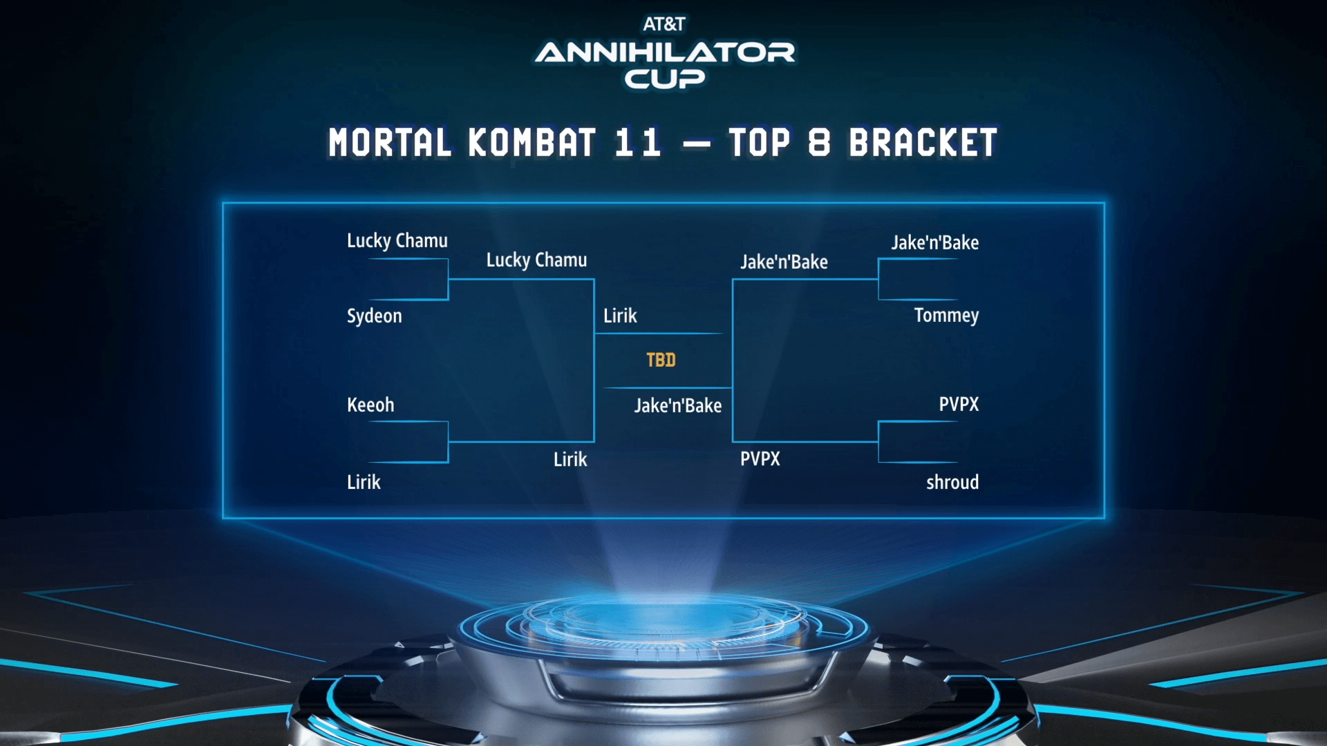 AT&T Cup Mortal Kombat Bracket Round 2 results