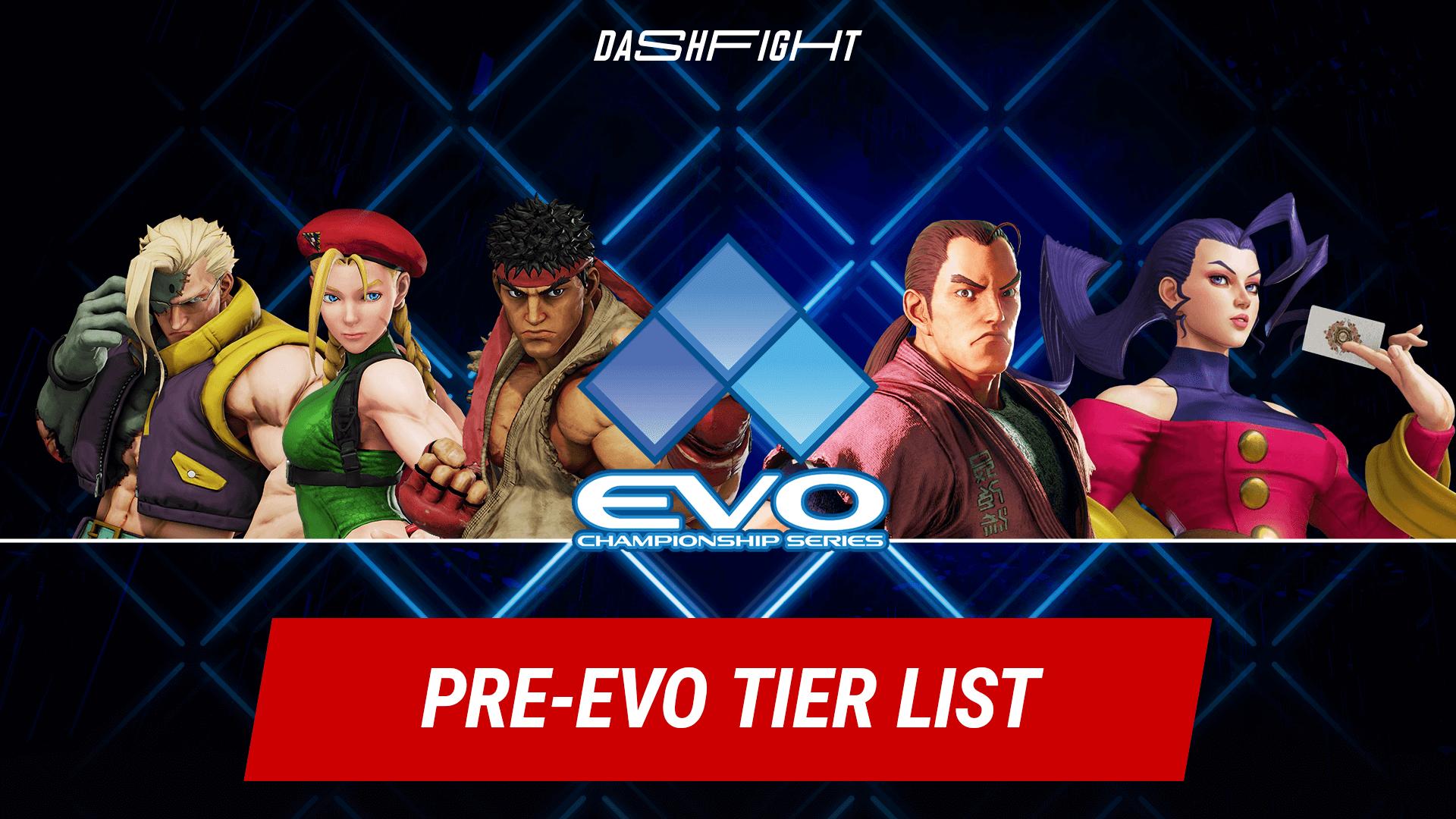 Street Fighter V Pre-Evo Tier List