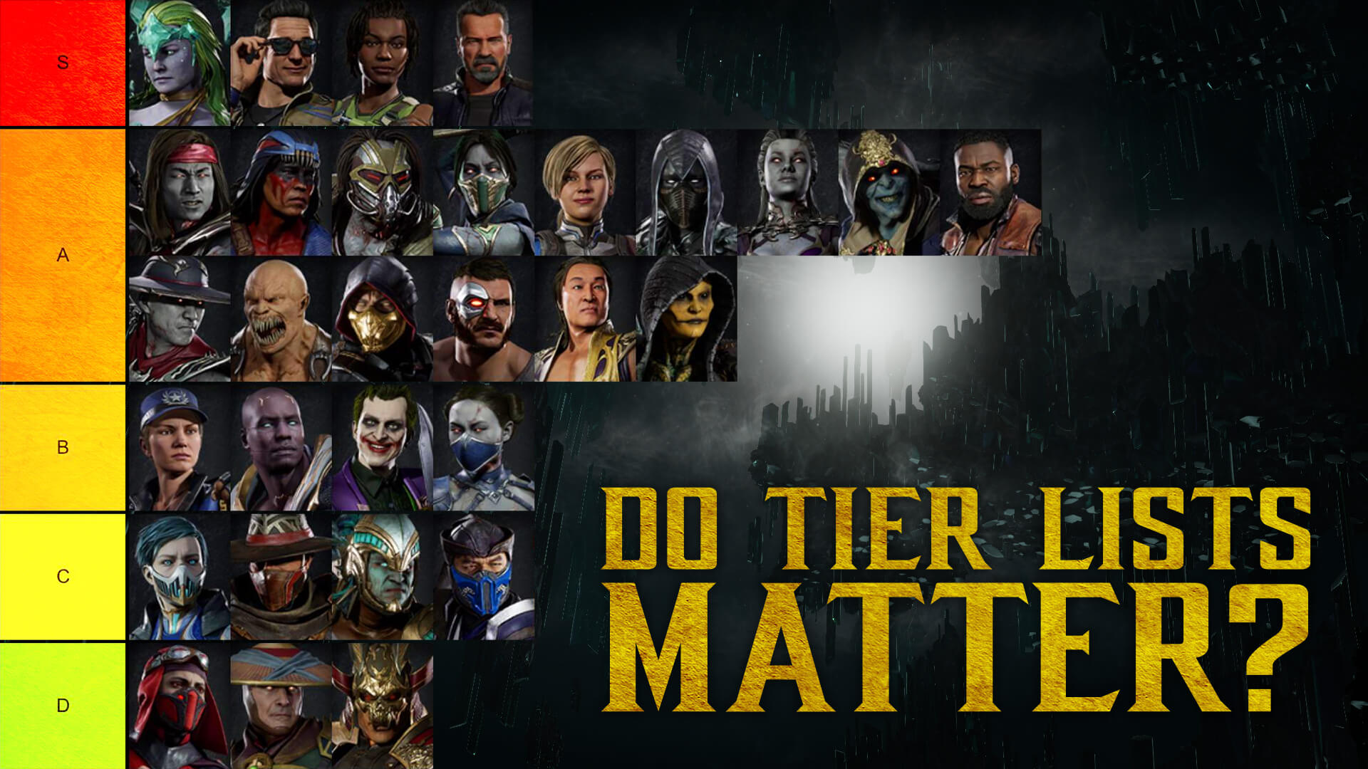 Should Tier Lists Matter In Competitive Fighting Games?
