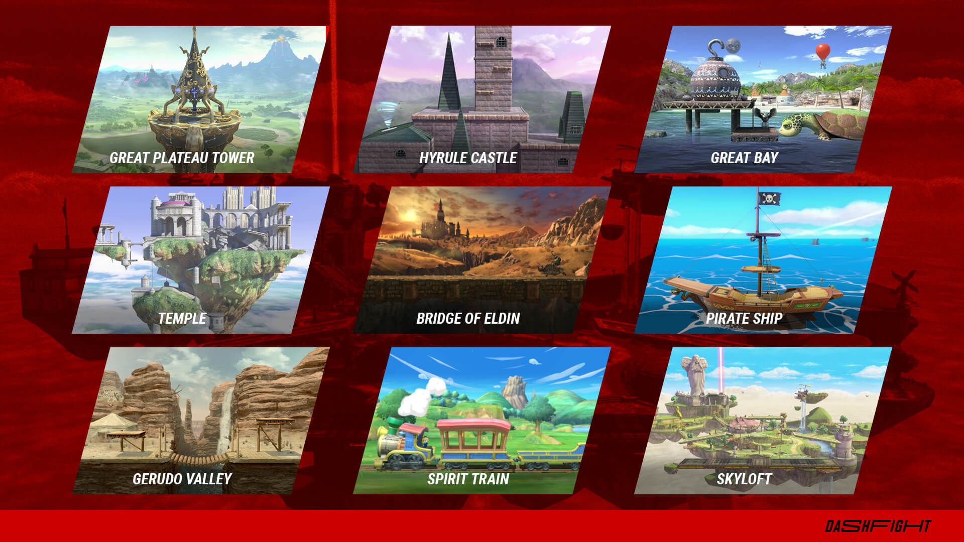Zelda stages in Super Smash Bros. Ultimate