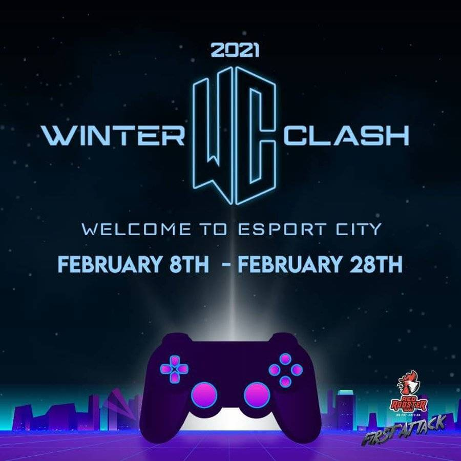Fighting esports event Winter Clash 2021 - poster