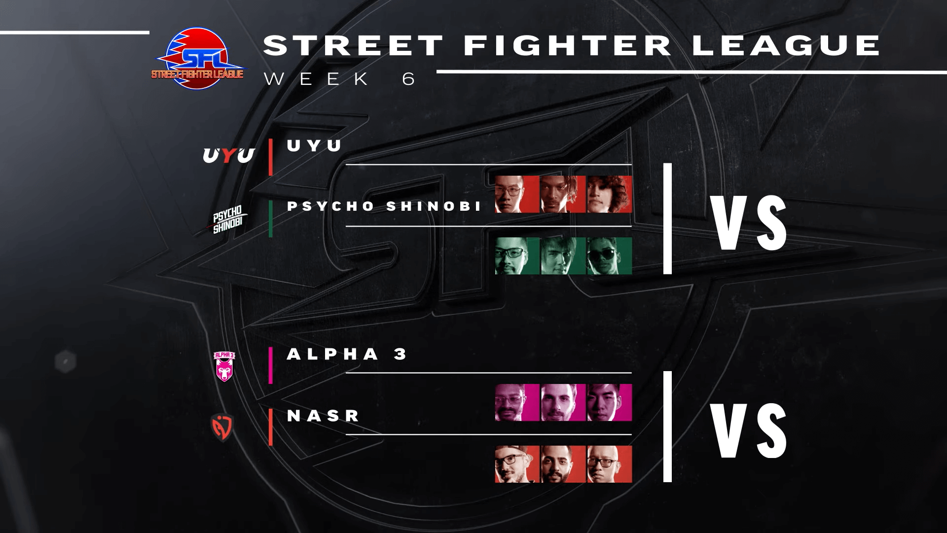 Alpha 3 and Psycho Shinobi get victories at SF League Pro-US Week 6