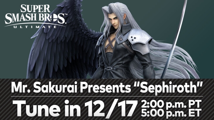 Masahiro Sakurai will showcase Sephiroth on December 17