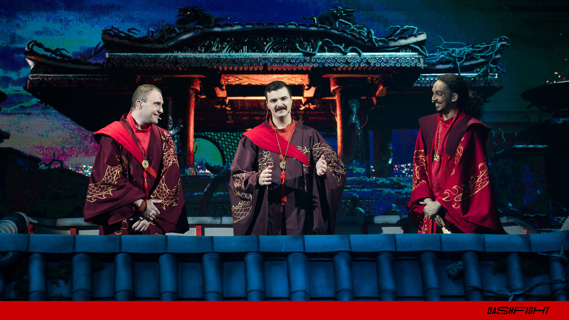 Kitana Prime (on the right) along with the other co-analysts for the WePlay Dragon Temple