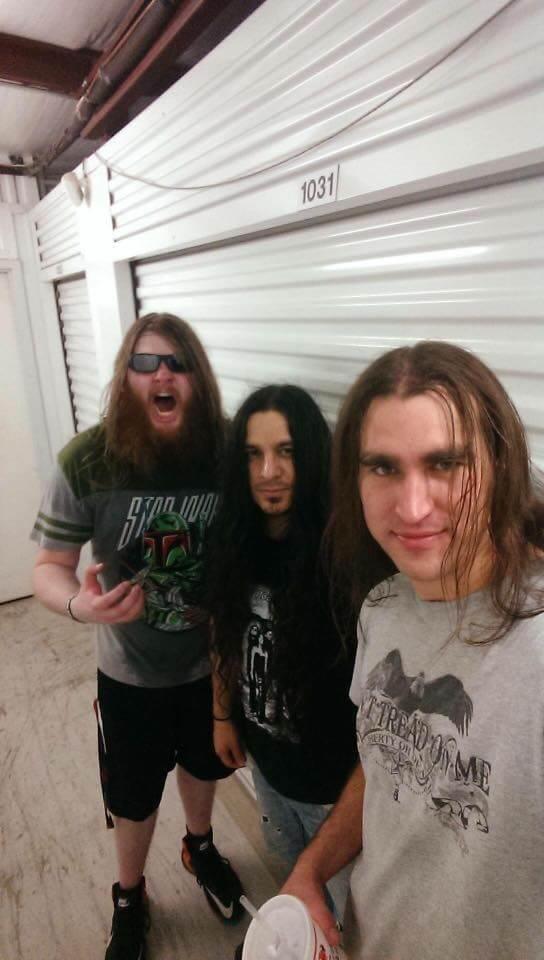 Brandon Alexander with Heliosaga members