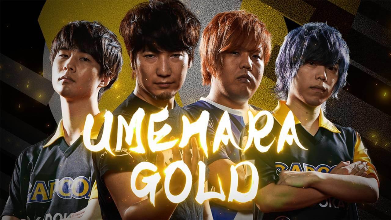 Street Fighter 5 team Umehara Gold