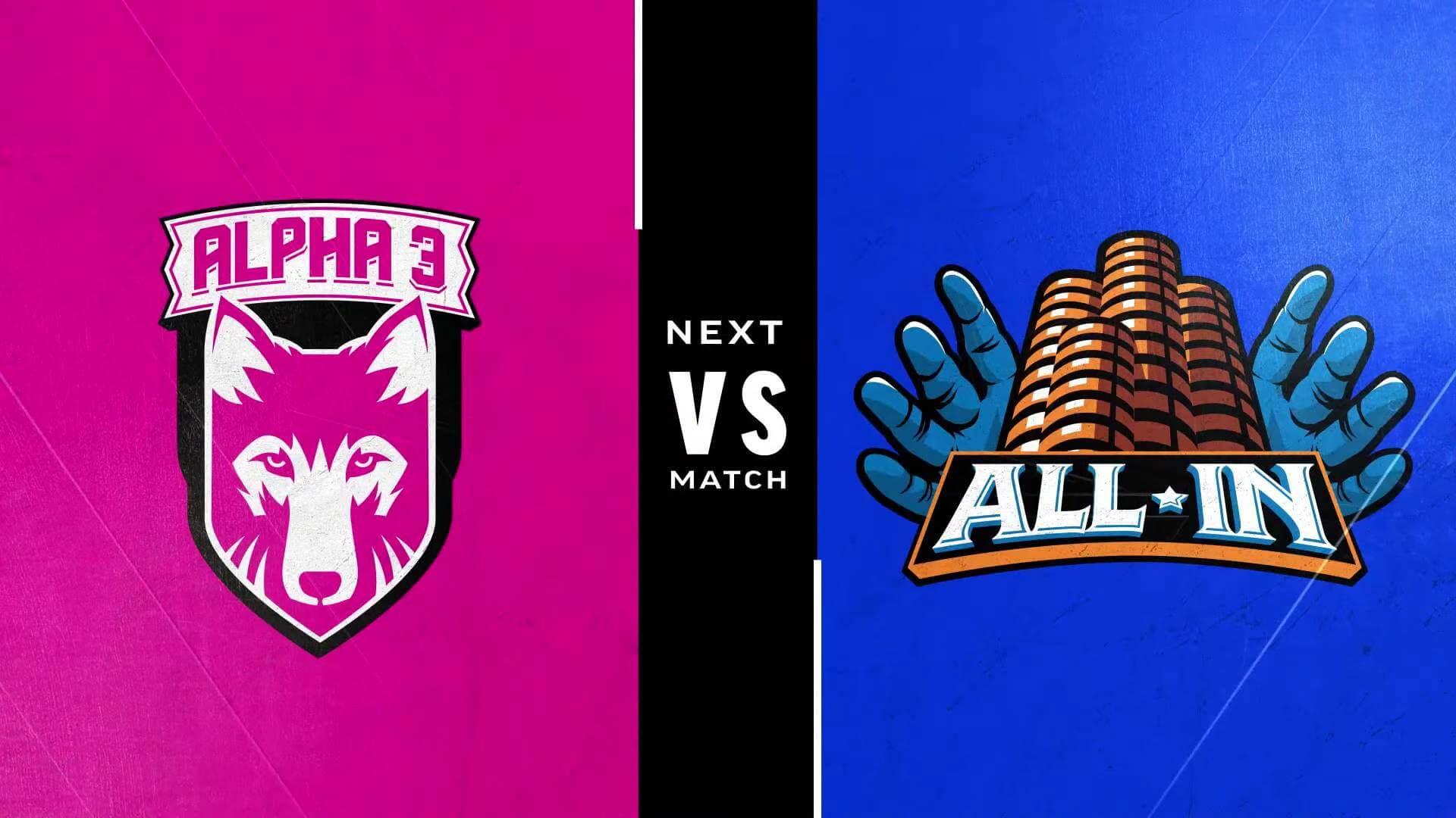 Street Fighter Leaguer Pro-US - Alpha 3 vs All-In team logos