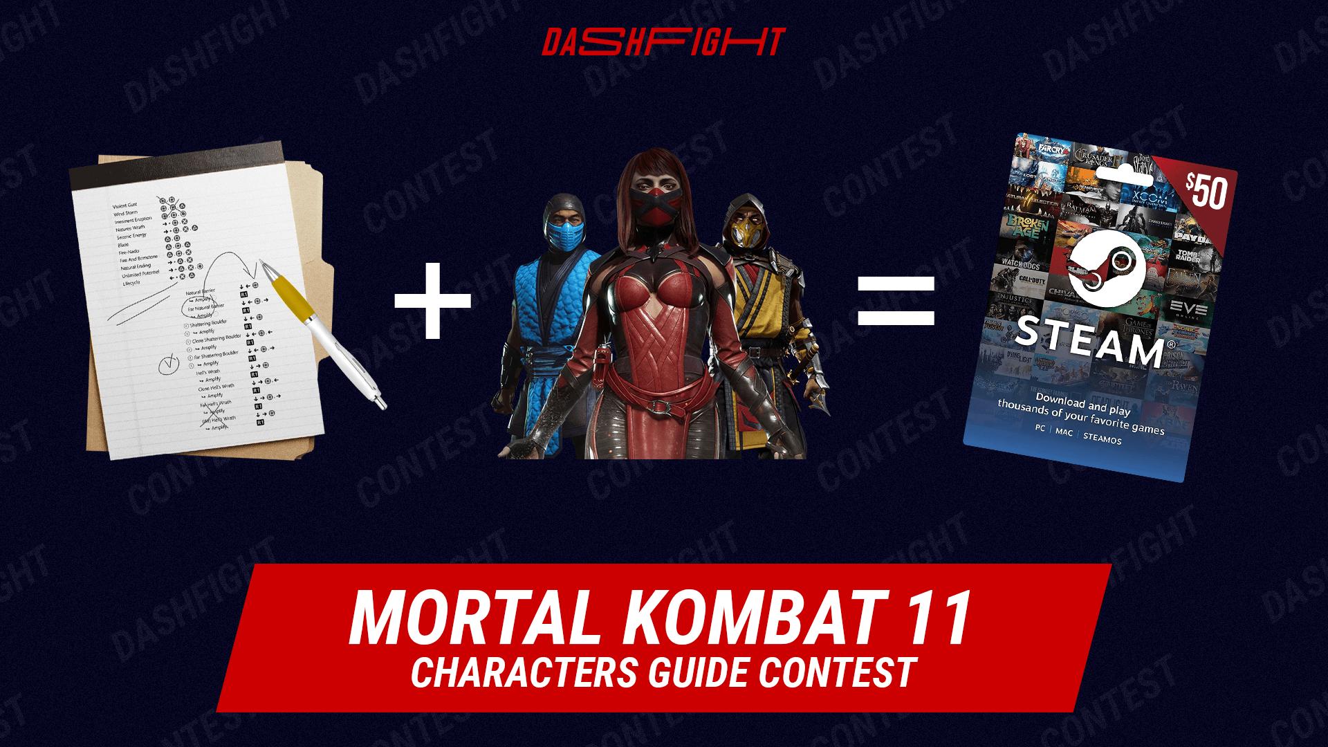 DashFight MK11 Characters Guide Contest
