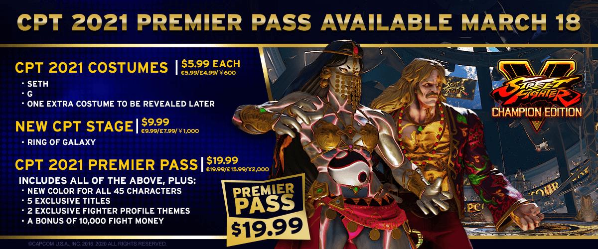 Street Fighter V, Capcom Pro Tour 2021 DLC - content and prices
