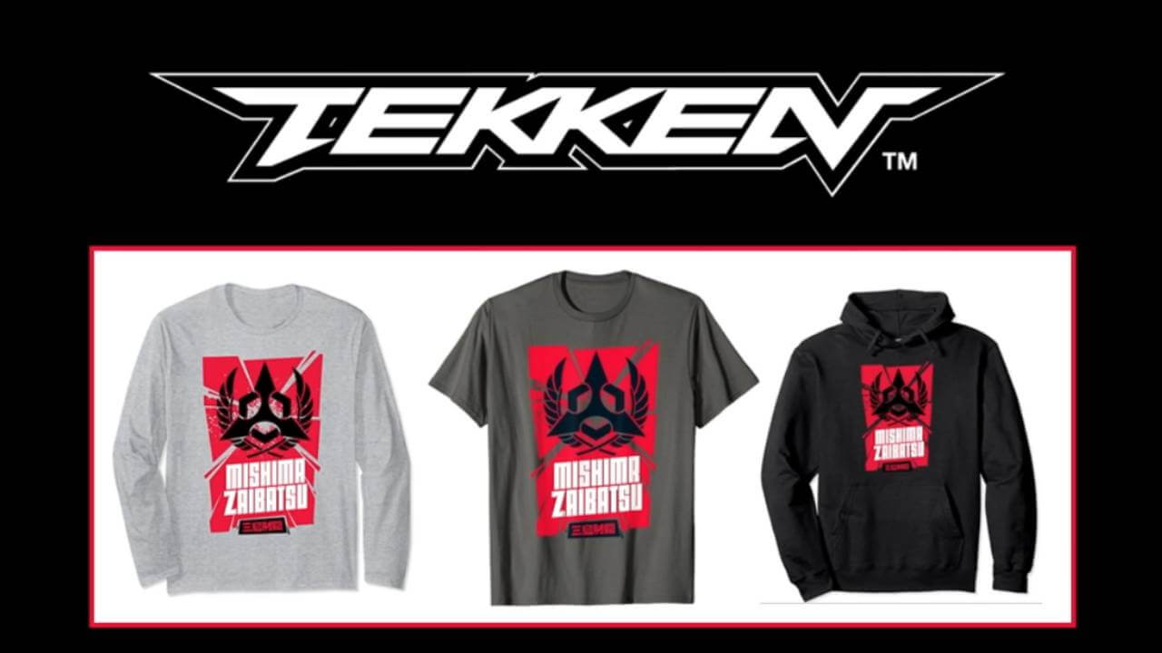 Tekken 7 merchandise, T-Shirt with the logo of Mishima Zaibatsu