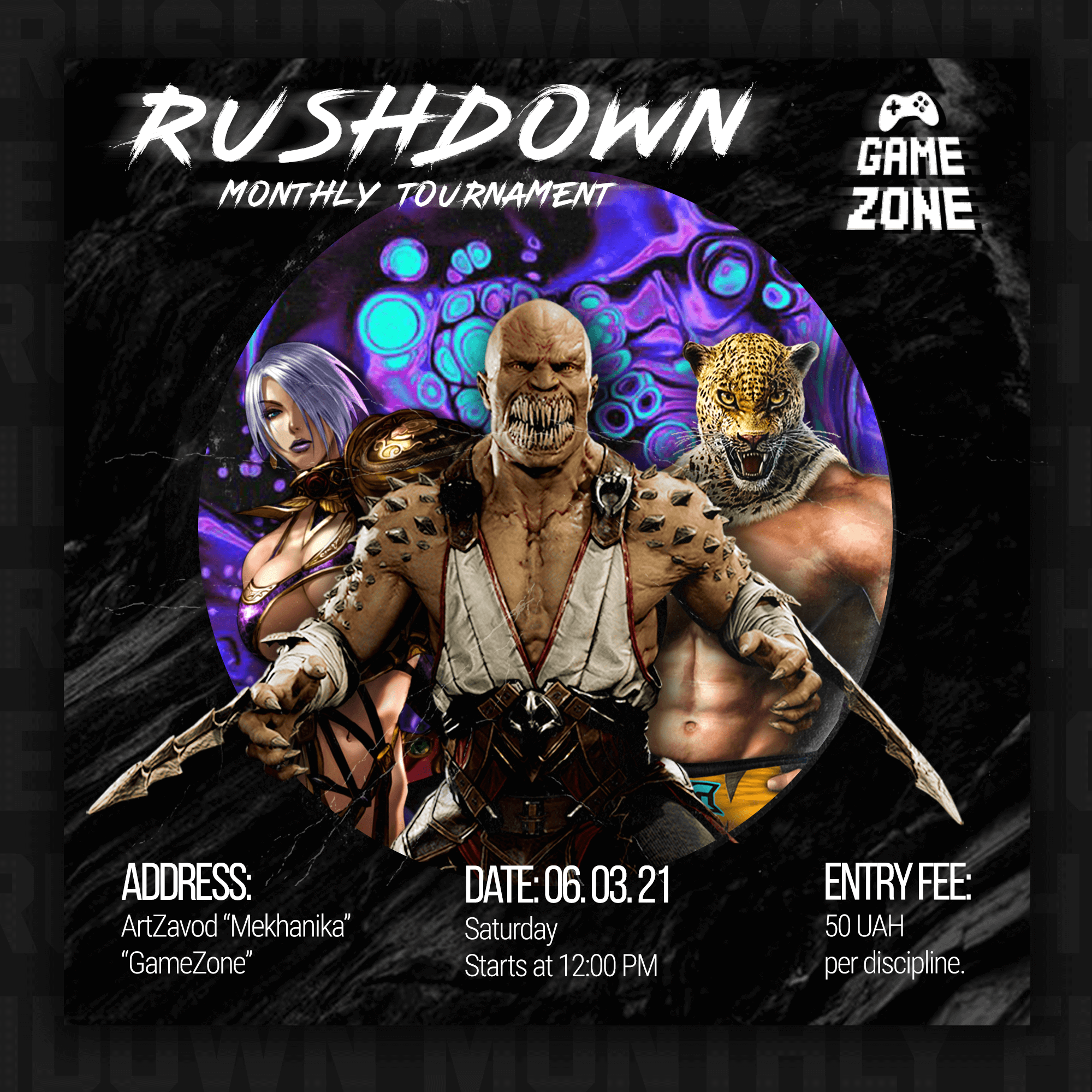 Rushdown Monthly Tournament announce
