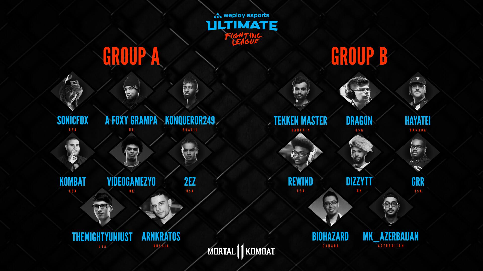 MK11 WUFL Season 1 - players in Groups