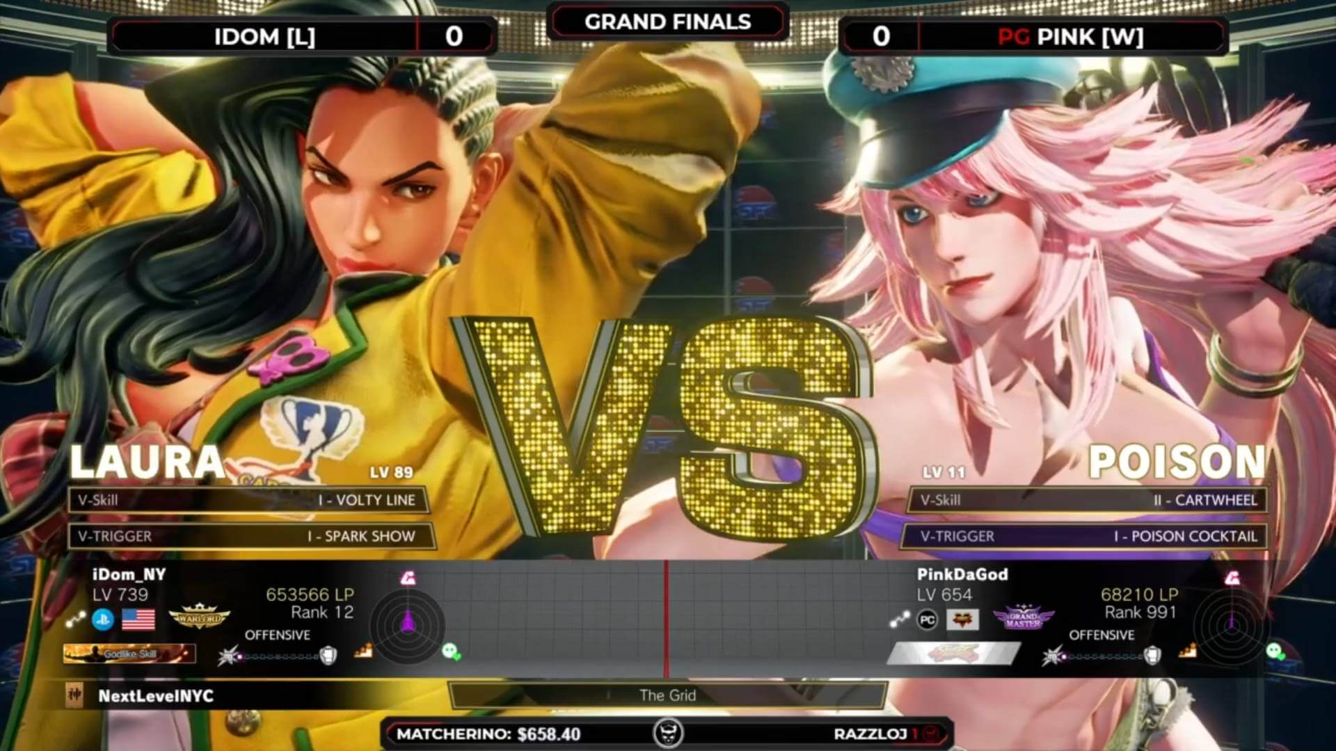 New Week of Street Fighter Matches at Next Level Battle Circuit