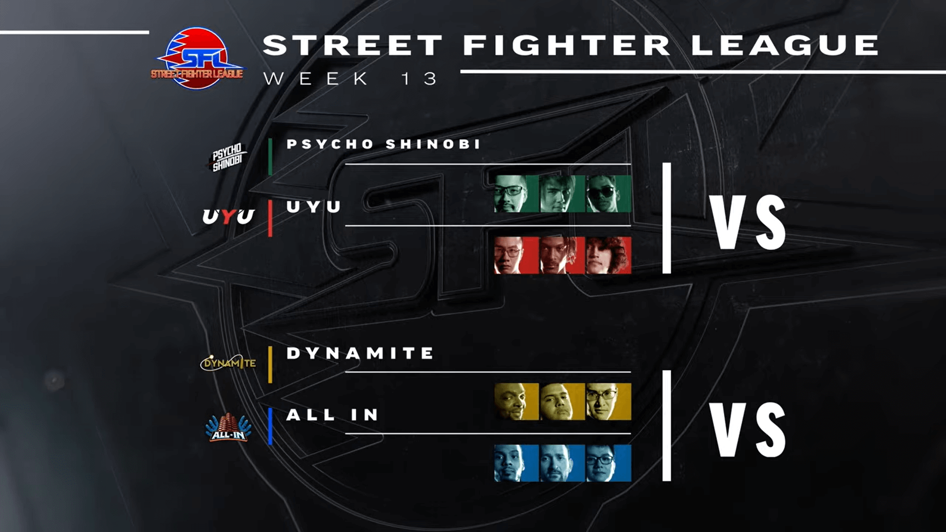 Fighting esports matches of Street Fighter League Week 13