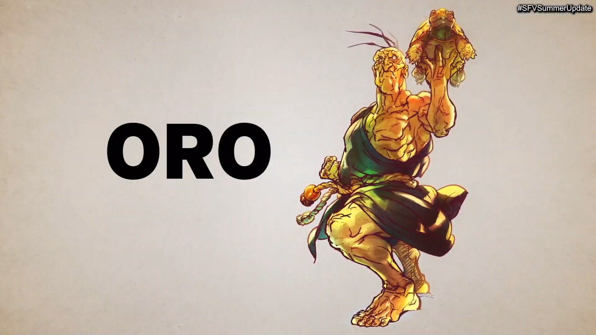 Capcom Released a New Sketch of Oro