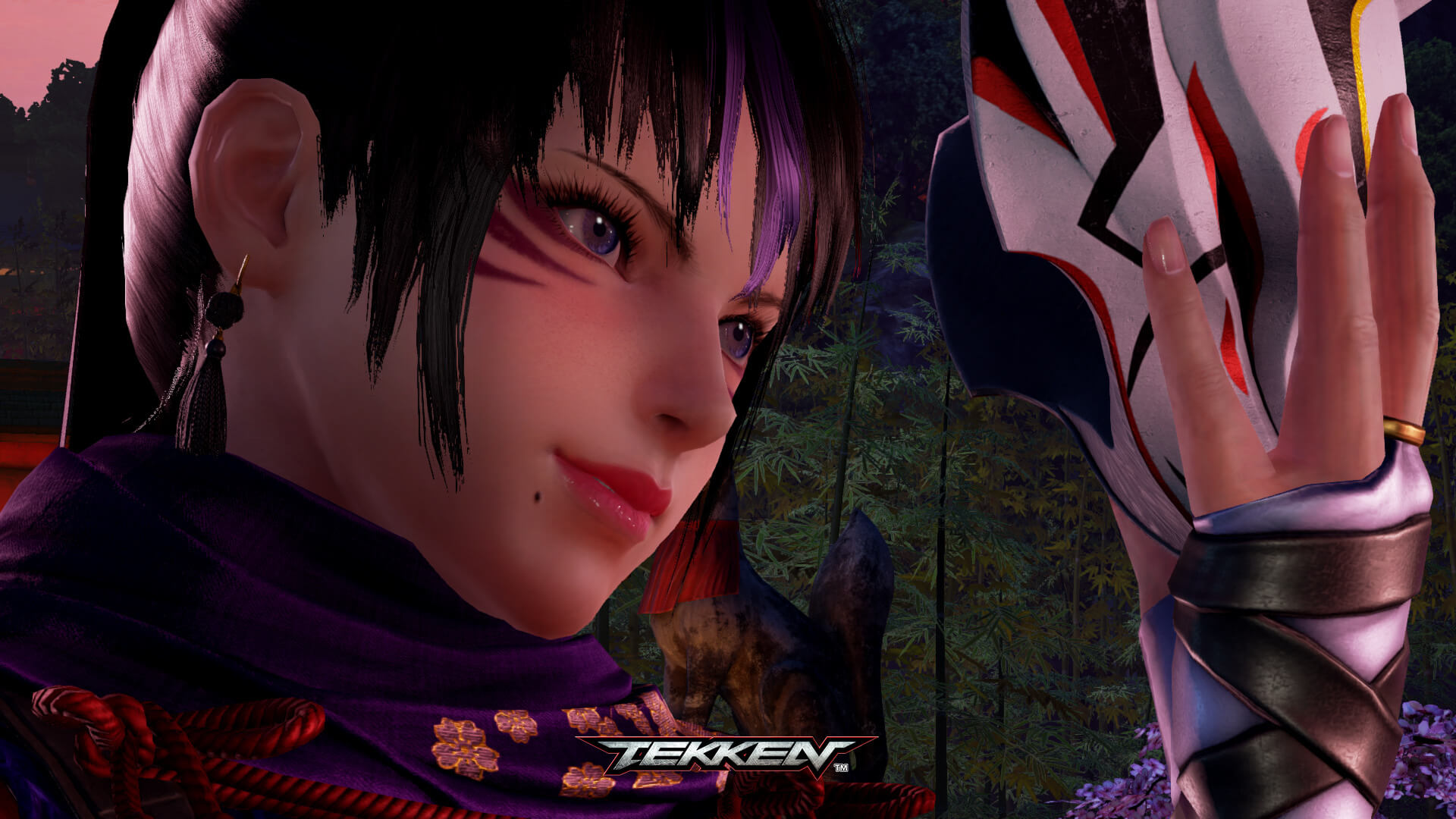 How Kunimitsu from Tekken 7 looks after the appearance in the trailer