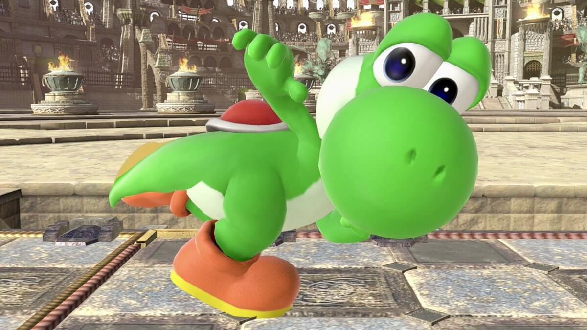 Yoshi in battle