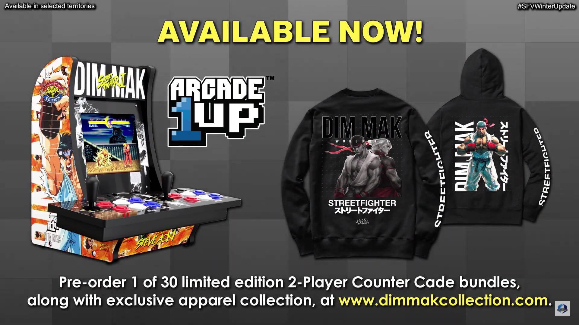 Street Fighter 5 Winter Update - new merchandise