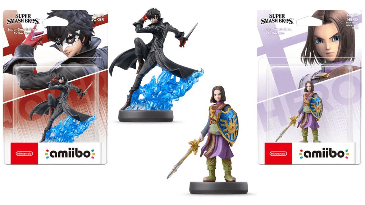 New amiibo for Super Smash Bros. Ultimate: Hero and Joker