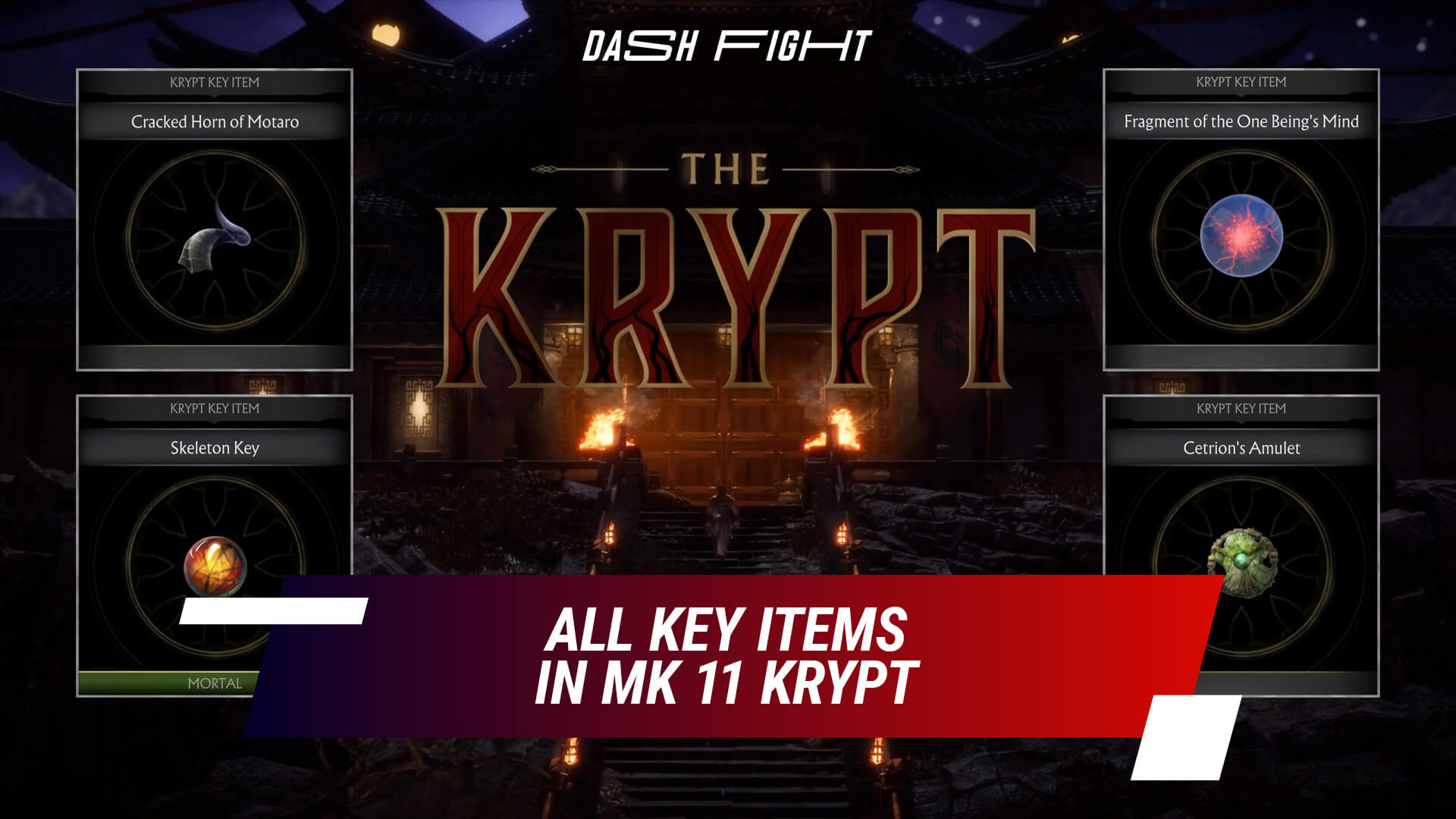 All Key Items in MK11 Krypt Locations and Use