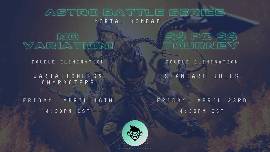 Astro Battle Series: Mortal Kombat 11 esports tournaments, poster