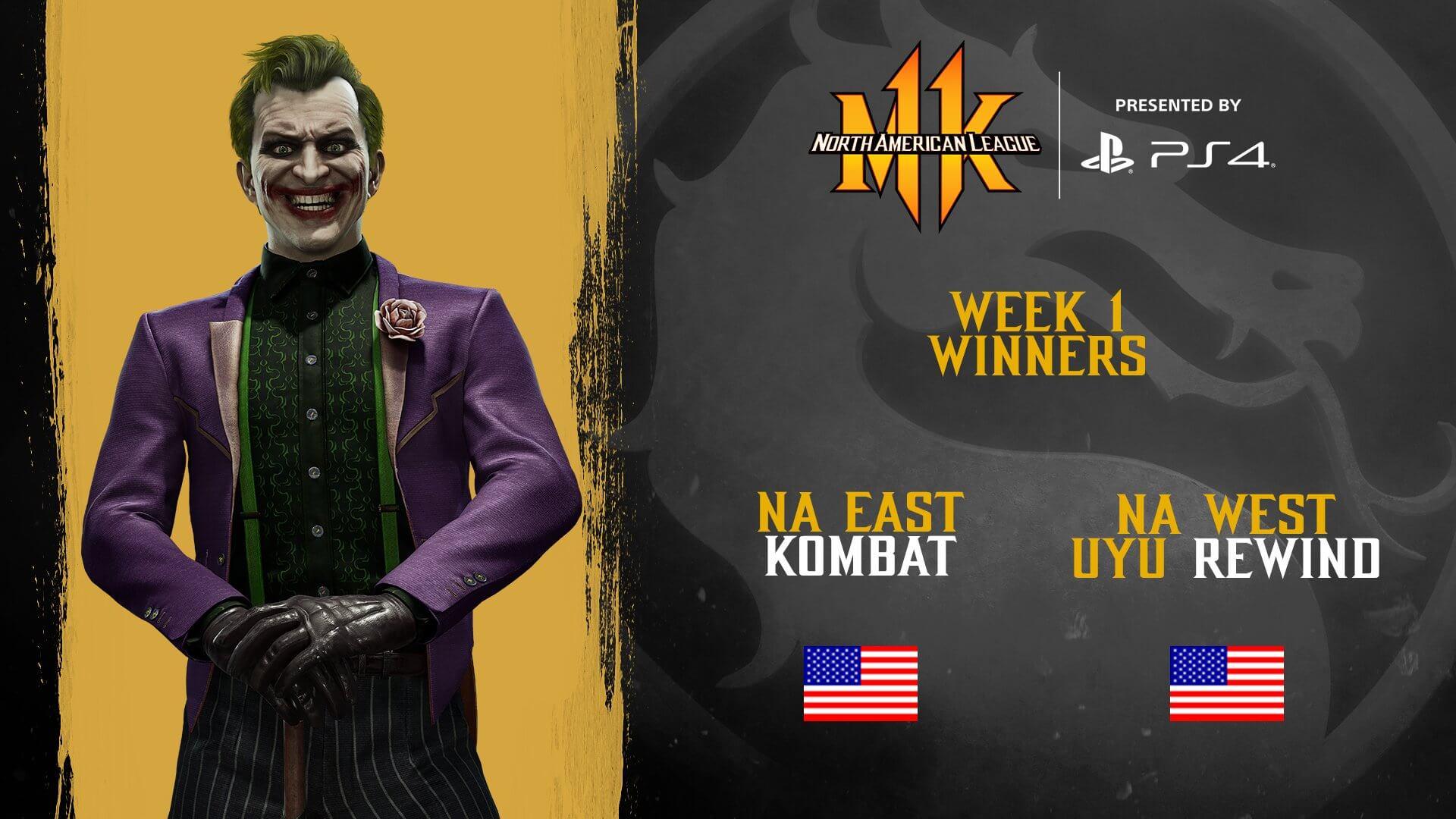 Mortal Kombat Pro Kompetition 2020: NA West & East week 1 Results