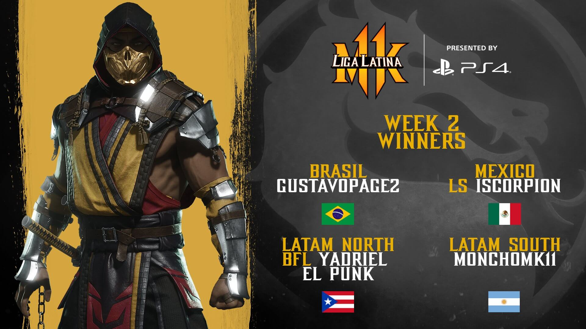 Pro Kompetiton - Liga Latina Week 2 Winners