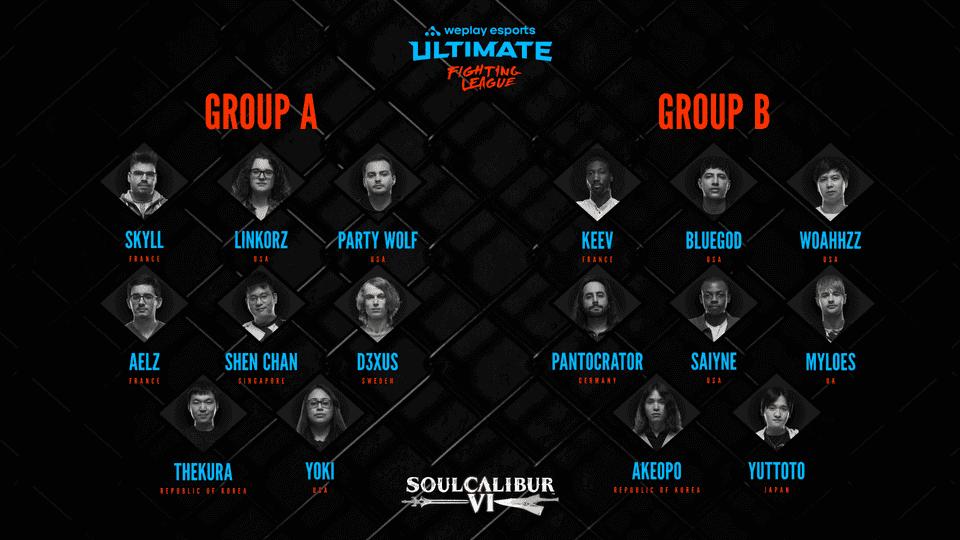 WUFL Season 1 - Soulcalibur VI participants