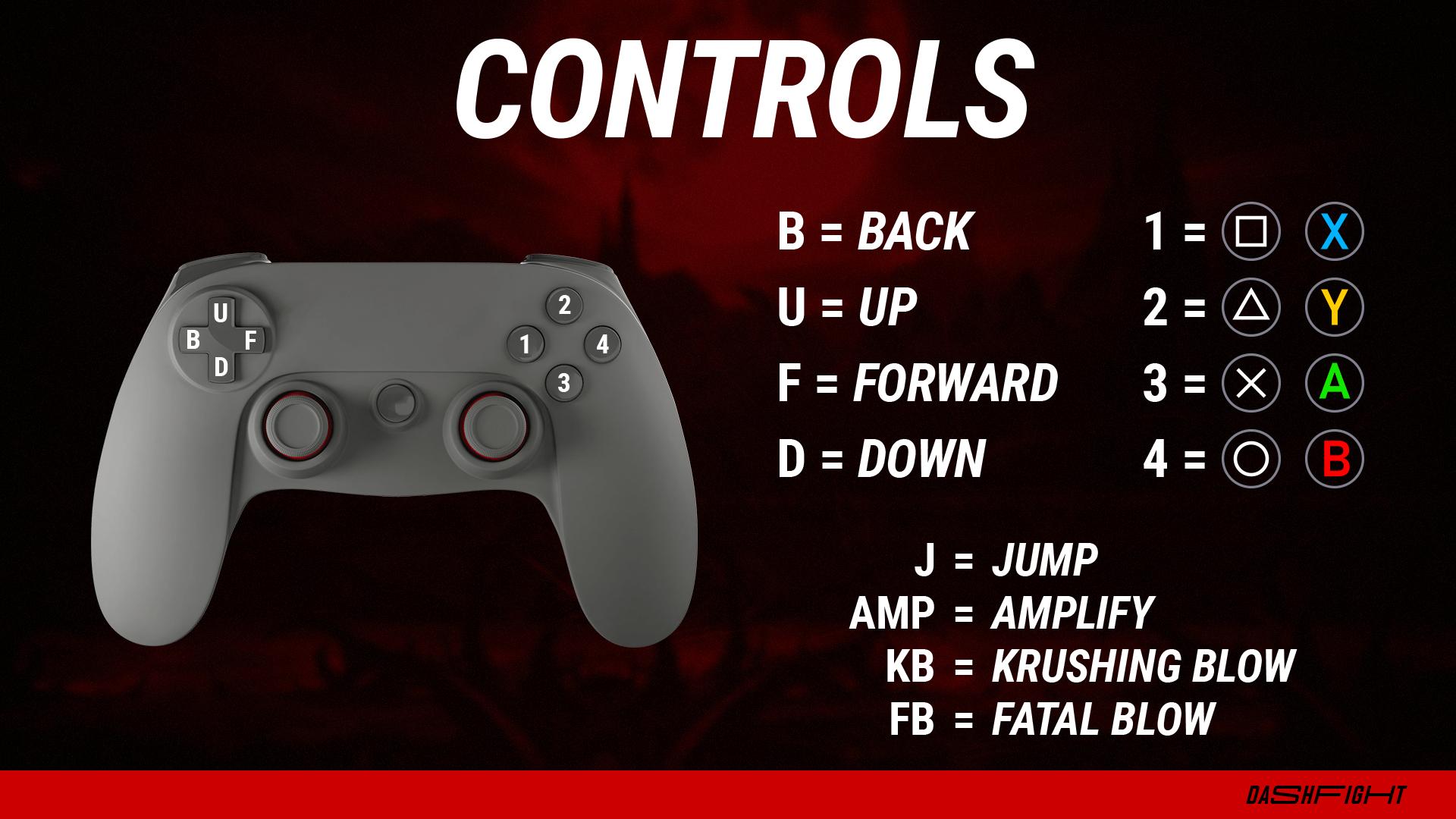 Controls in Mortal Kombat 11 - PlayStation and Xbox gamepads