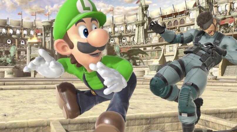 Luigi hits Snake