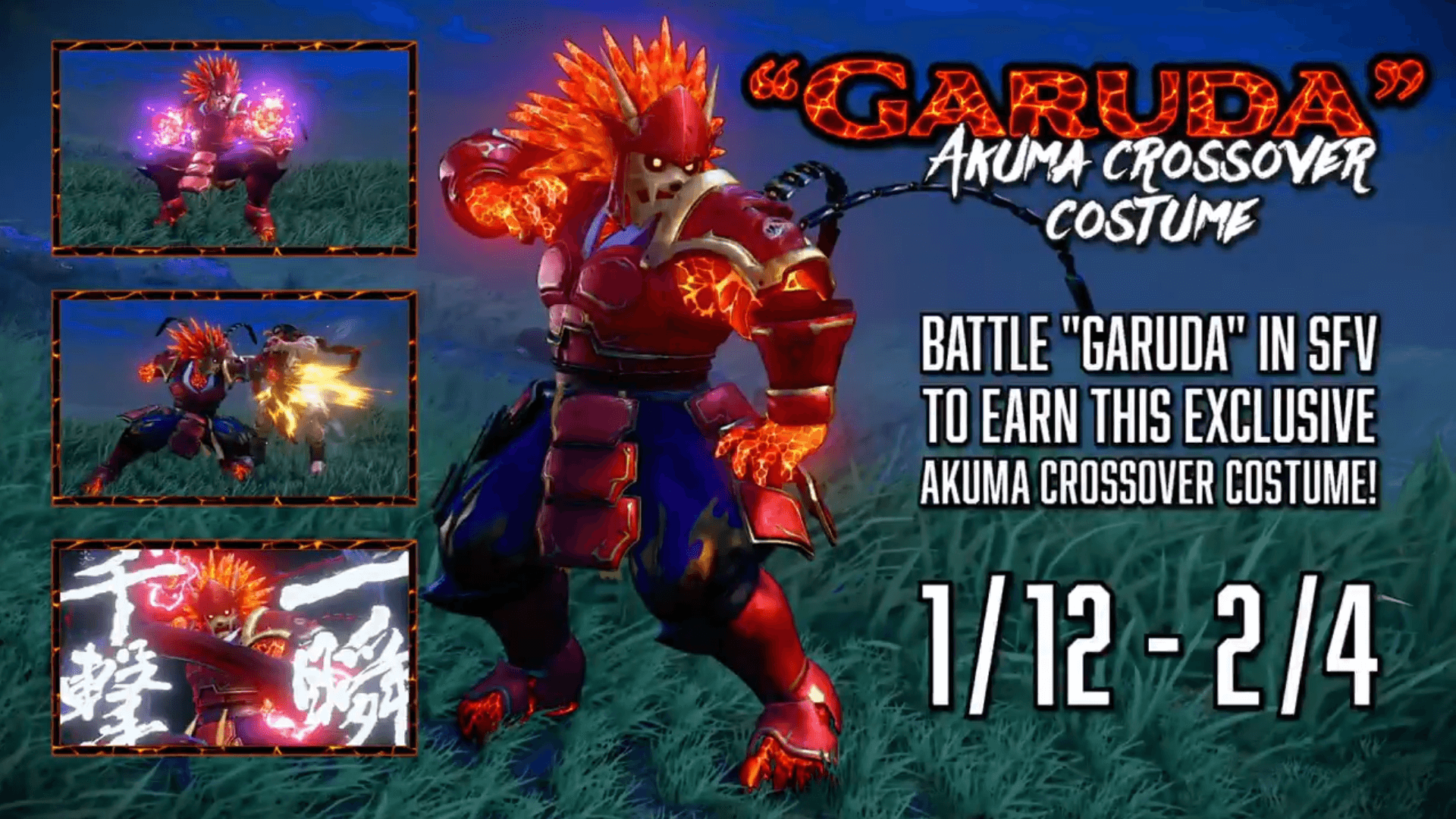 Get Garuda in Street Fighter V - a Crossover Costume for Akuma