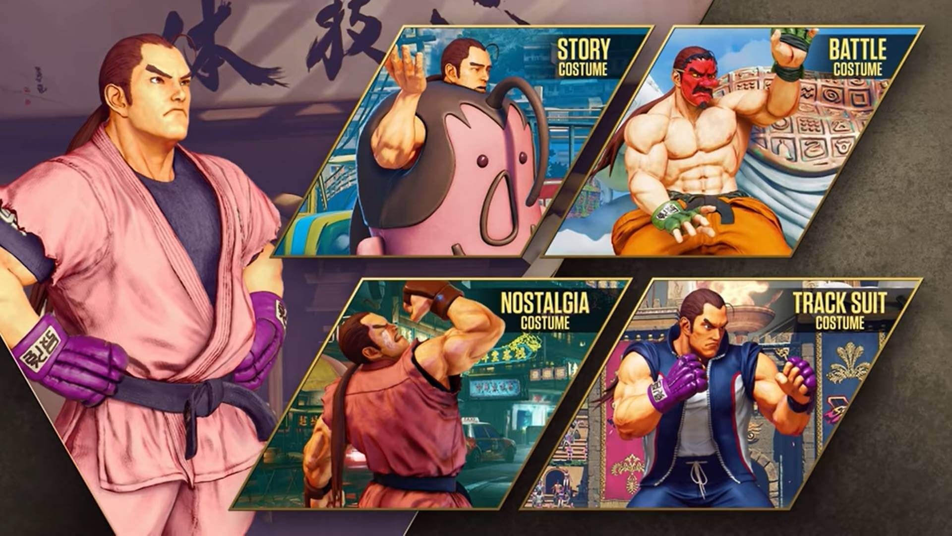 Street Fighter V Season 5, Costumes of Dan Hibiki
